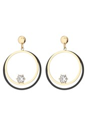 Sweet Deluxe Giana Earrings Goldcoloured Black
