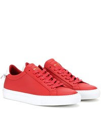 Givenchy Urban Knots Leather Sneakers Red