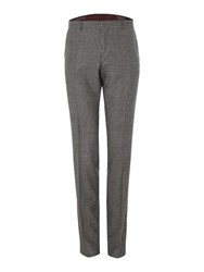 Peter Werth Dempsey N.1 Cut Flat Fronted Check Trousers Light Grey