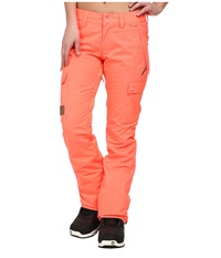 Dc Recruit J Snow Pants Fiery Coral Women's Casual Pants Red