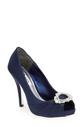 Women's Nina 'Elvira' Peep Toe Pump New Navy