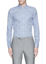 Lardini Fox Jacquard Gingham Check Shirt Multi Colour