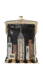 Whiting And Davis Skyline Heritage Clutch Black Multi