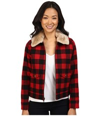 Pendleton Petite Aurora Coat Rob Roy Tartan Women's Coat Black