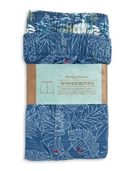 Tommy Bahama 2 Pack Woven Boxers Blue