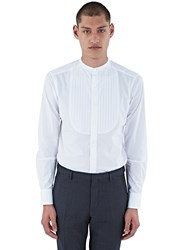 Kolor Pintuck Pleated Shirt White