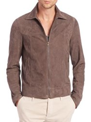 Tomas Maier Suede Jacket Heather Grey