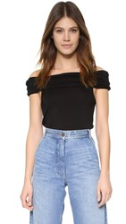 Splendid Off Shoulder Top Black