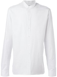 Balmain Mandarin Collar Shirt White