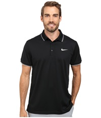 Nike Court Polo Black Black White Multi Snake Men's Short Sleeve Pullover