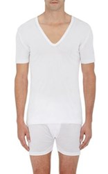 Zimmerli Men's V Neck T Shirt White