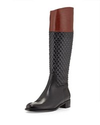 Sesto Meucci Kaitlin Quilted Leather Riding Boot Black