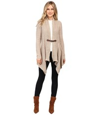 Christin Michaels Brilliant Cut Buckle Cardigan Mocha Heather Women's Sweater Brown