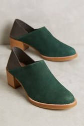 Anthropologie All Black Colorblock Fold Back Booties Green