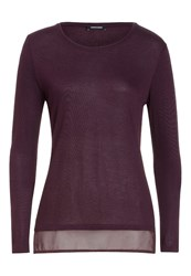 More And More Long Sleeved Top Bordeaux