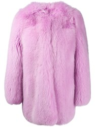 Gucci Inside Snake Embroidery Coat Pink Purple