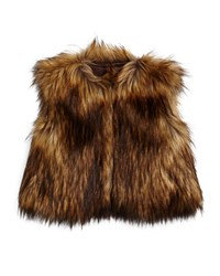 Appaman Cropped Faux Fur Vest Brown Size 4 14
