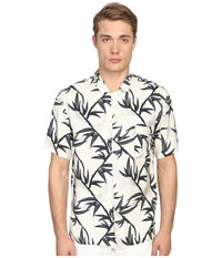 Marc Jacobs Shadow Leaf Classic Short Sleeve Button Up Off White Multi