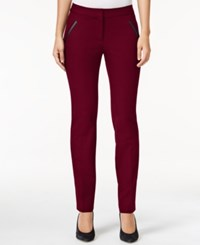 Alfani Petite Faux Leather Detail Pants Only At Macy's Marooned
