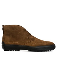 Tod's Lace Up Ankle Boots Brown
