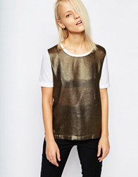 Selected Selcted Suri T Shirt With Lurex Front Multi