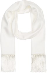 Haider Ackermann White Silk Scarf