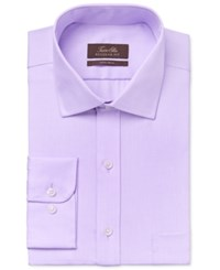 Tasso Elba Men's Classic Fit Lavender Twill Dress Shirt Only At Macy's