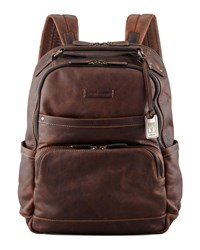 Logan Men's Leather Backpack Dark Brown Frye