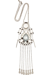 Vickisarge Adele Palladium Plated Swarovski Crystal Necklace