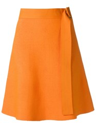 Egrey High Waisted Skirt Yellow Orange