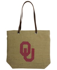 Little Earth Oklahoma Sooners Burlap Tote Brown