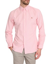 Polo Ralph Lauren Slim Fit Pink Oxford Shirt