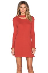 Insight Bell Rib Dress Orange