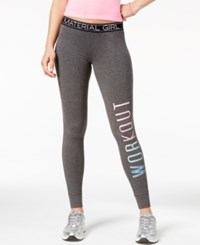 Material Girl Active Juniors' Graphic Leggings Only At Macy's Heather Charcoal