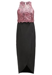 Little Mistress Curvy Occasion Wear Black Rose