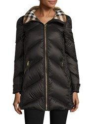 Burberry Eastwick Chevron Puffer Black