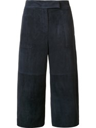 Brunello Cucinelli Wide Leg Cropped Pants Blue