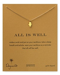 Dogeared All Is Well Hamsa Necklace 18 Gold