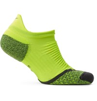 Nike Elite Cushion Dri Fit No Show Socks Bright Yellow