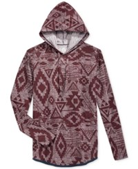 American Rag Men's Southwestern Hoodie Only At Macy's Dark Scarlet