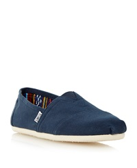 Toms Classic Slip On Casual Espadrilles Navy