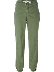 Ermanno Scervino Drawstring Tapered Pants Green