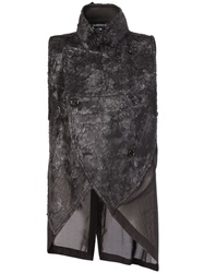 Ann Demeulemeester Matted Panel Gilet Black