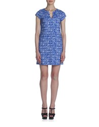Susana Monaco Printed Sheath Dress Blue