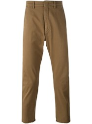Pence Frayed Hem Pants Brown