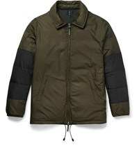 Helbers Panelled Shell Down Jacket Army Green