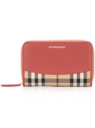 Burberry House Check Wallet Pink And Purple