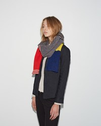 Jo Gordon Brushed Stripe Scarf Multicolor