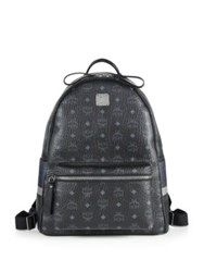 Mcm Munich Lion Coated Canvas Backpack