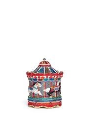 Judith Leiber 'Jane's Carousel' Crystal Pave Minaudiere Multi Colour